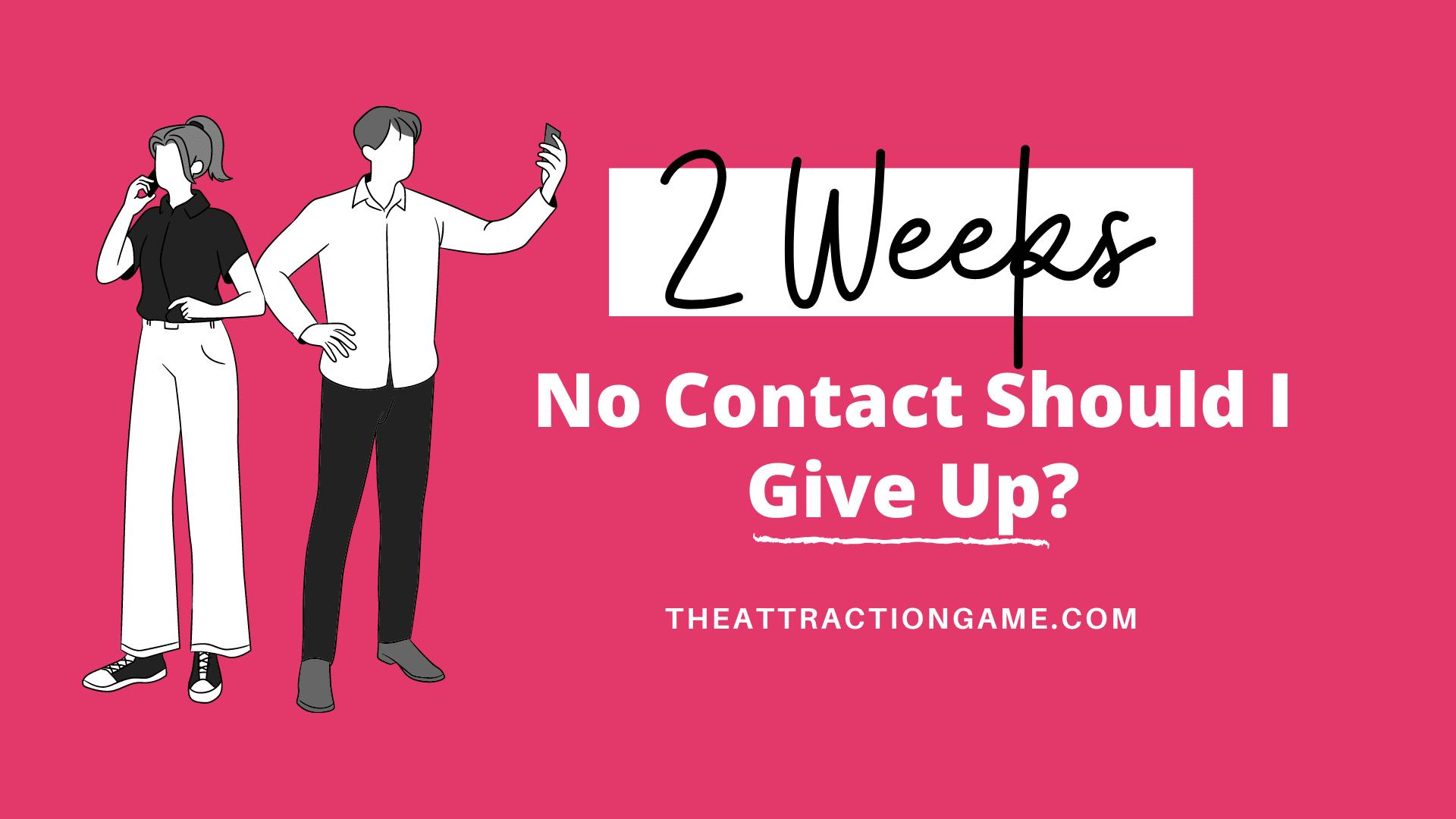 2 weeks no contact, no contact, should i give up no contact, 2 weeks of no contact,