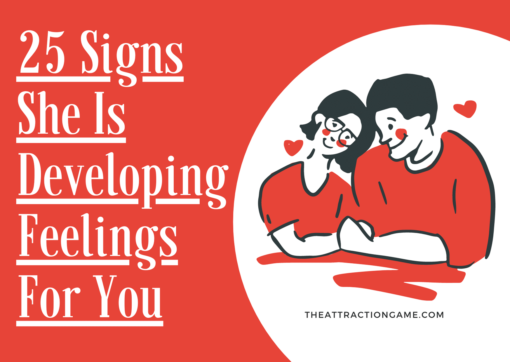 she's developing feelings for you, signs she likes you, signs she is falling in love with you, signs she cares about you, signs she likes you, signs she has feelings for you